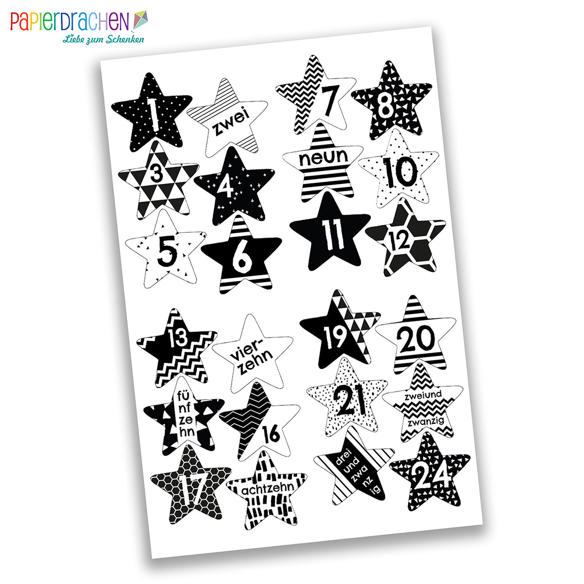 adventskalenderzahlen adventskalender zahlen aufkleber sticker. Black Bedroom Furniture Sets. Home Design Ideas