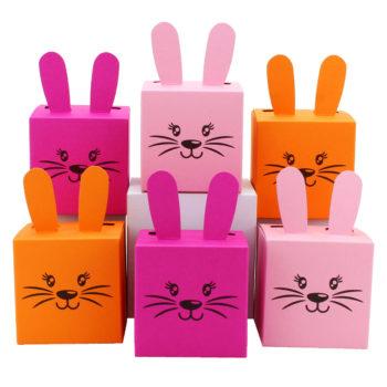 Osterhasen Boxen zum selber Befüllen in rosa zu Ostern