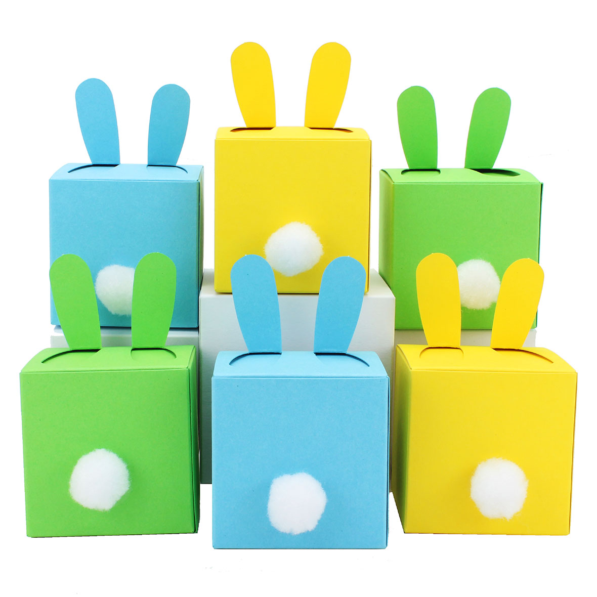 diy osterhasen kisten zum selber bef llen 6 blaue boxen i schachteln f r jungen papierdrachen. Black Bedroom Furniture Sets. Home Design Ideas