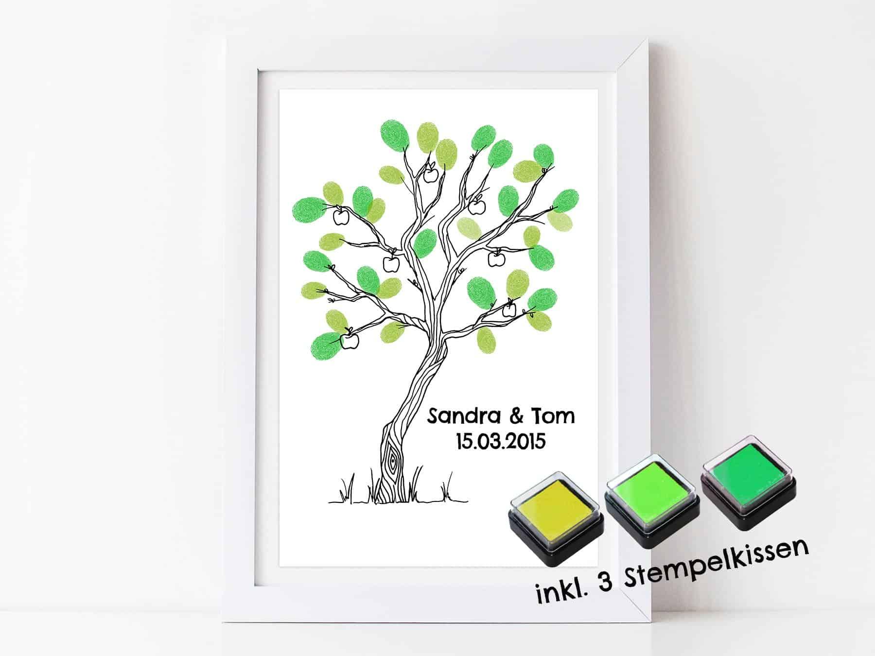 Fingerabdruck Gästebuch Baum für deine Hochzeit ...