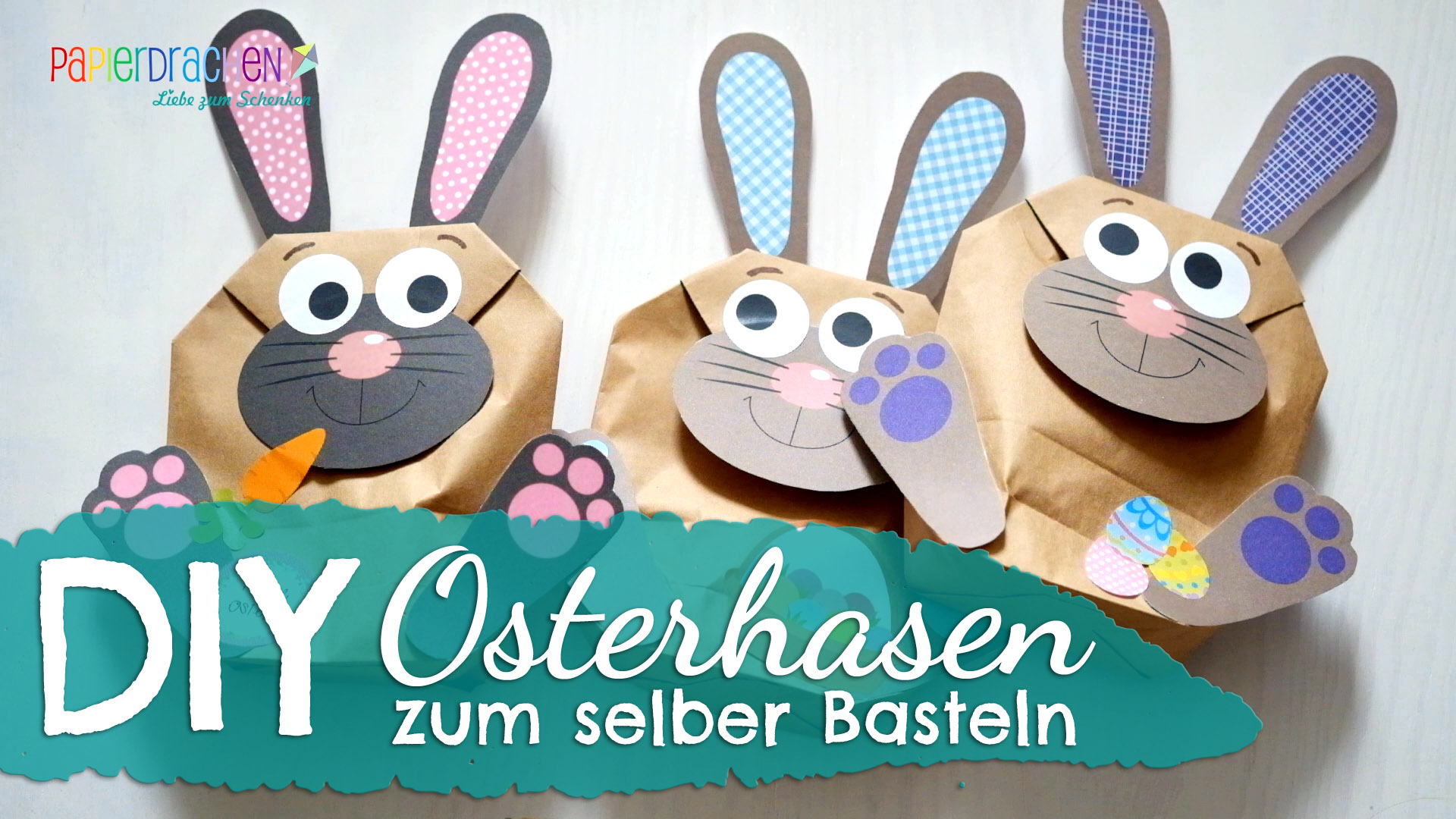 diy osterhasen t ten zum selber basteln papierdrachen. Black Bedroom Furniture Sets. Home Design Ideas