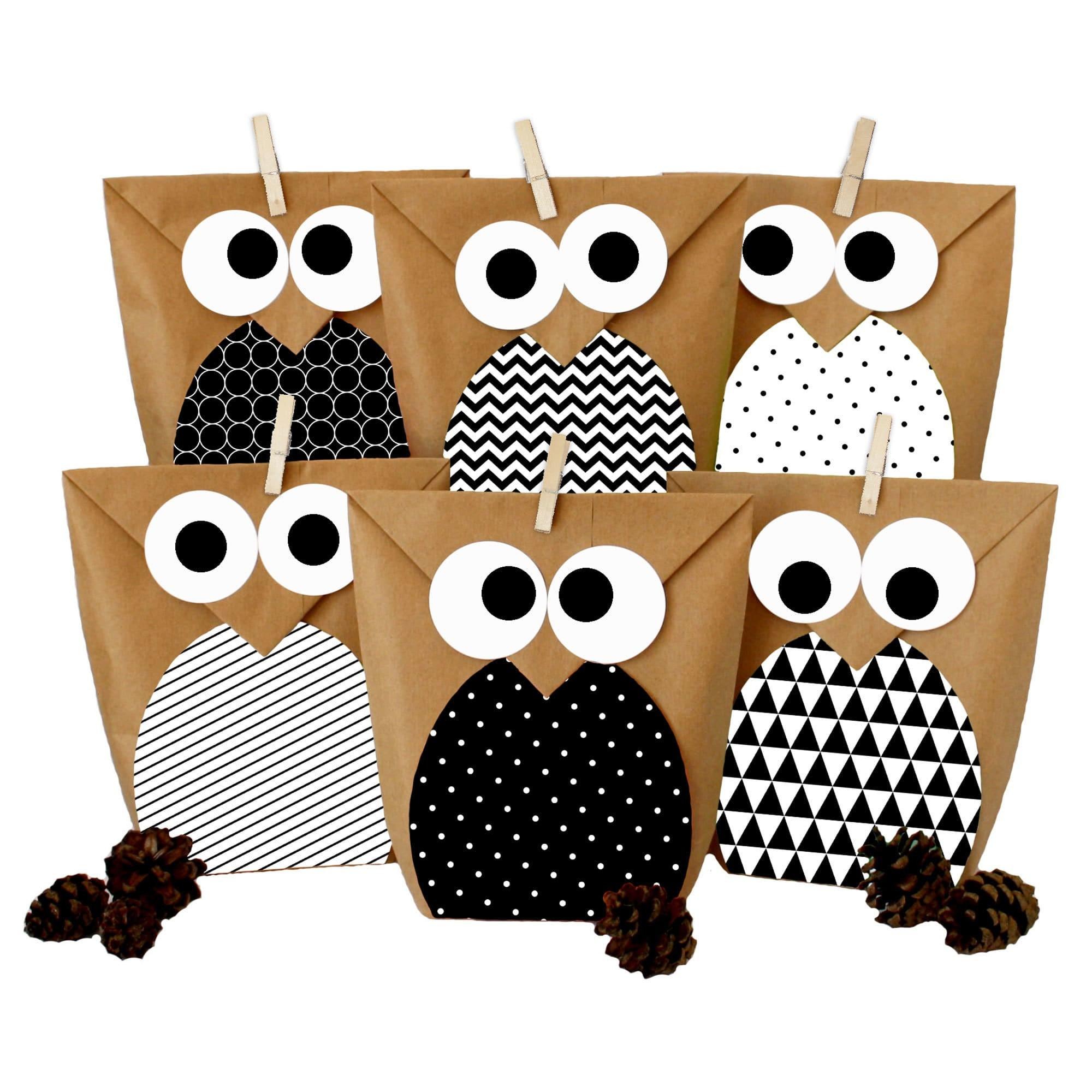 diy geschenkt ten set eulen schwarz mitgebsel f r kindergeburtstag zum selber basteln und. Black Bedroom Furniture Sets. Home Design Ideas