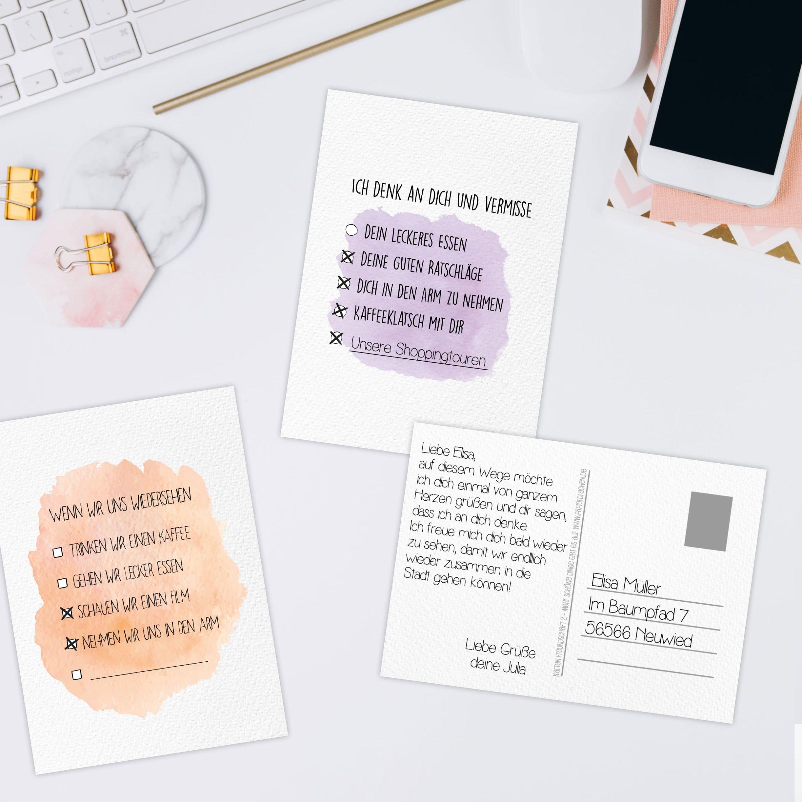 12 Postkarten Zum Ausmalen Und Ankreuzen Papierdrachen