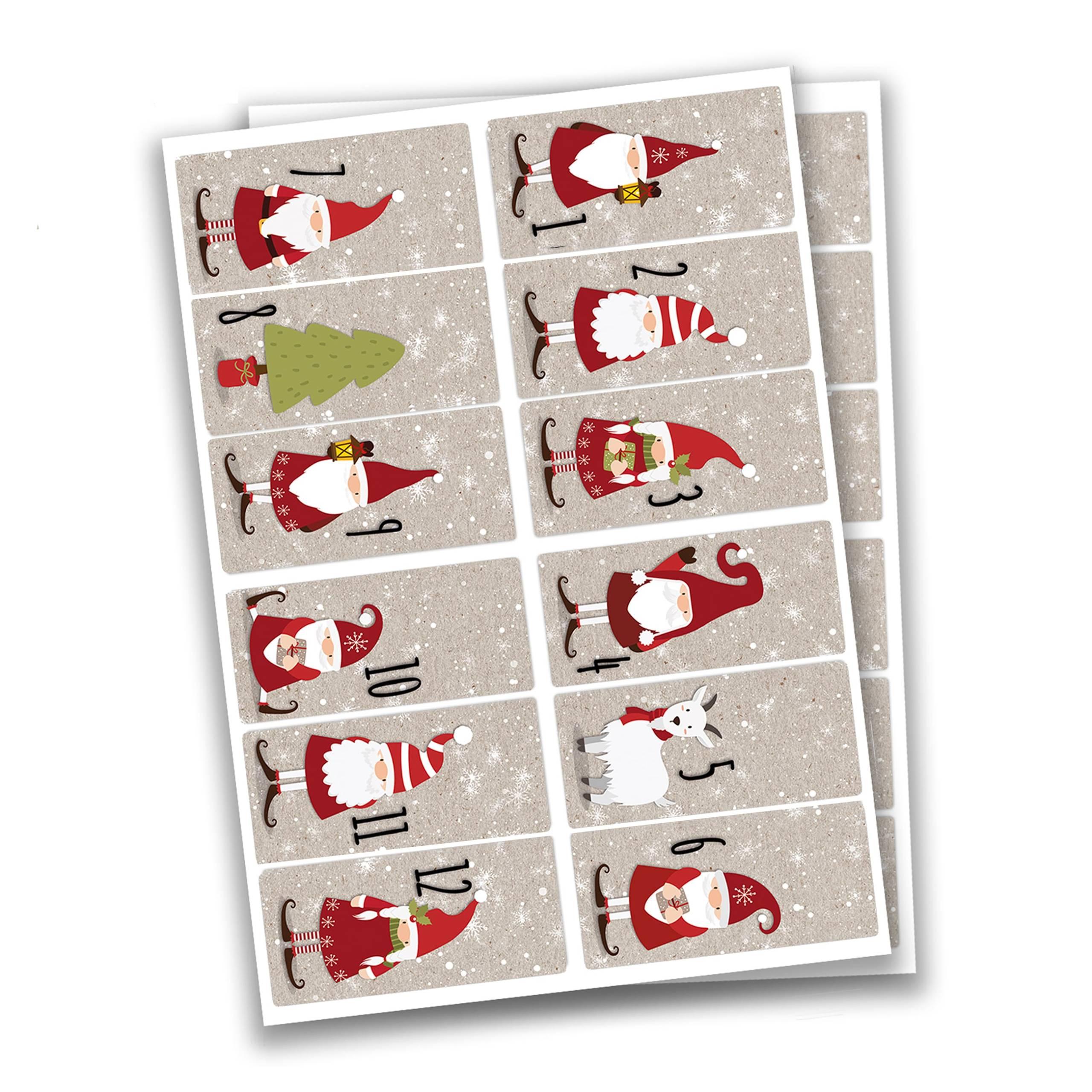 Papierdrachen Adventskalender Tütenset Design Nr 62