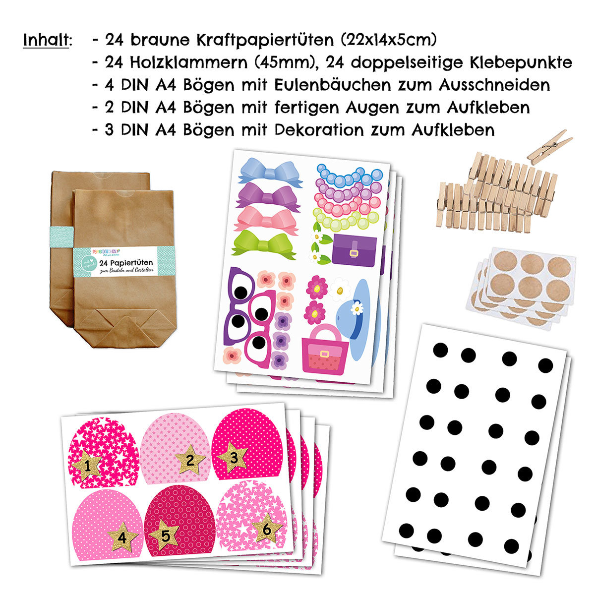 diy einhorn adventskalender zum selber basteln weihnachten zum bef llen mit 24 t ten zum. Black Bedroom Furniture Sets. Home Design Ideas