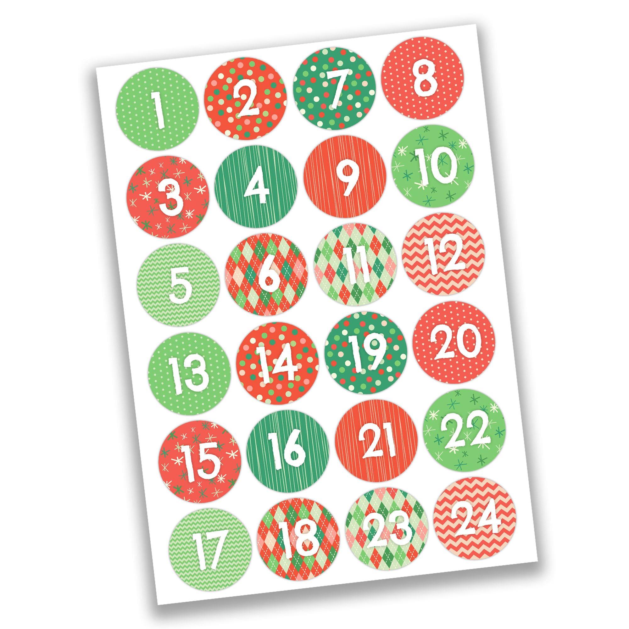 24 adventskalender stoffs ckchen zum aufh ngen klassisches weihnachten papierdrachen. Black Bedroom Furniture Sets. Home Design Ideas