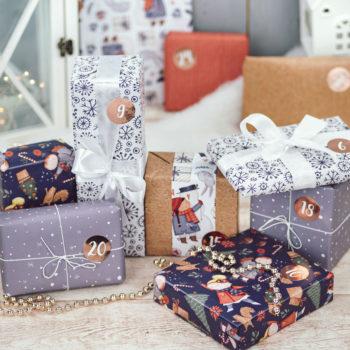 Geschenkpapier Adventskalender