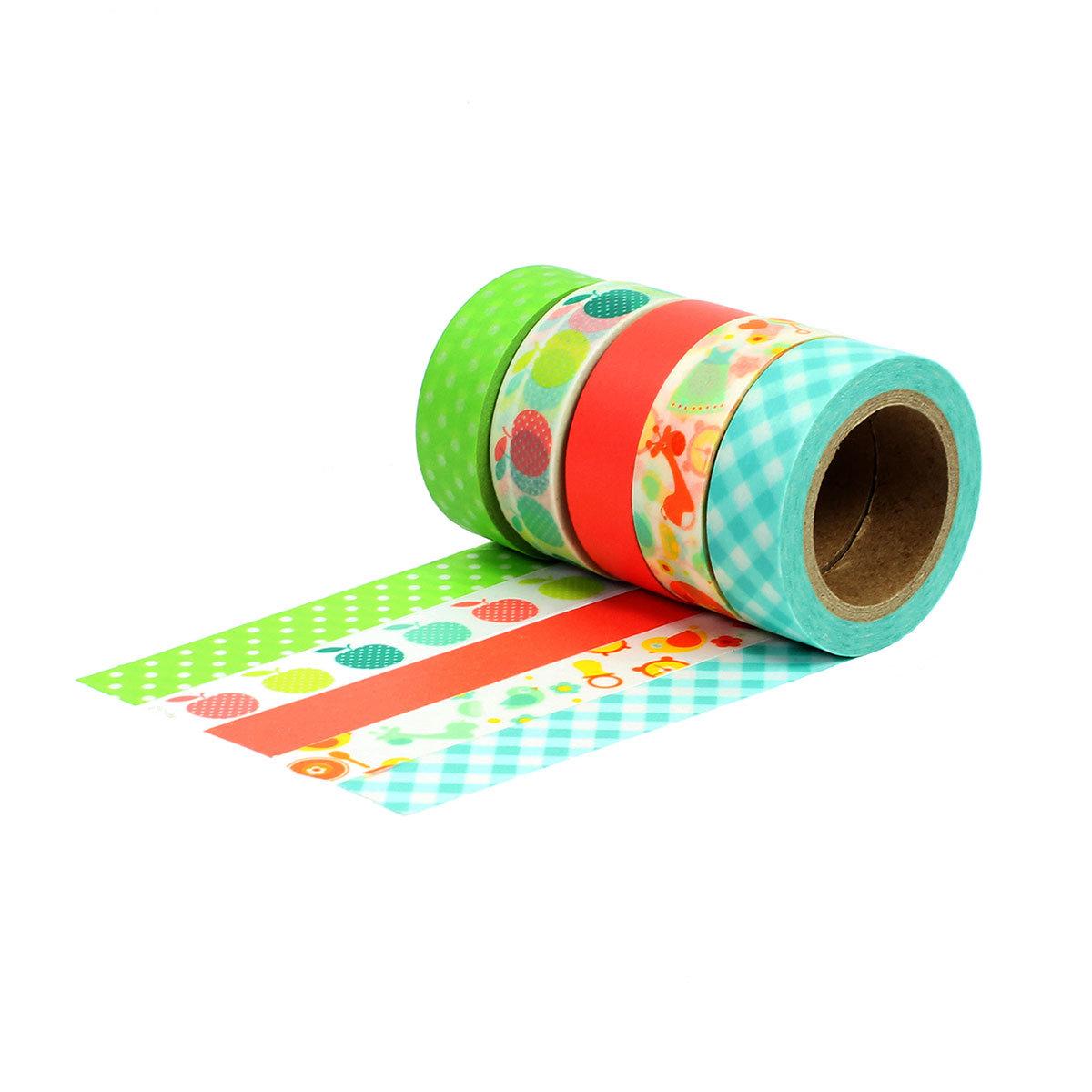 Washi Tape Set 10 Mit 5 Rollen Verschiedene Farben Masking