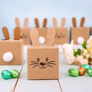 Osterhasen Kisten mit Ohren