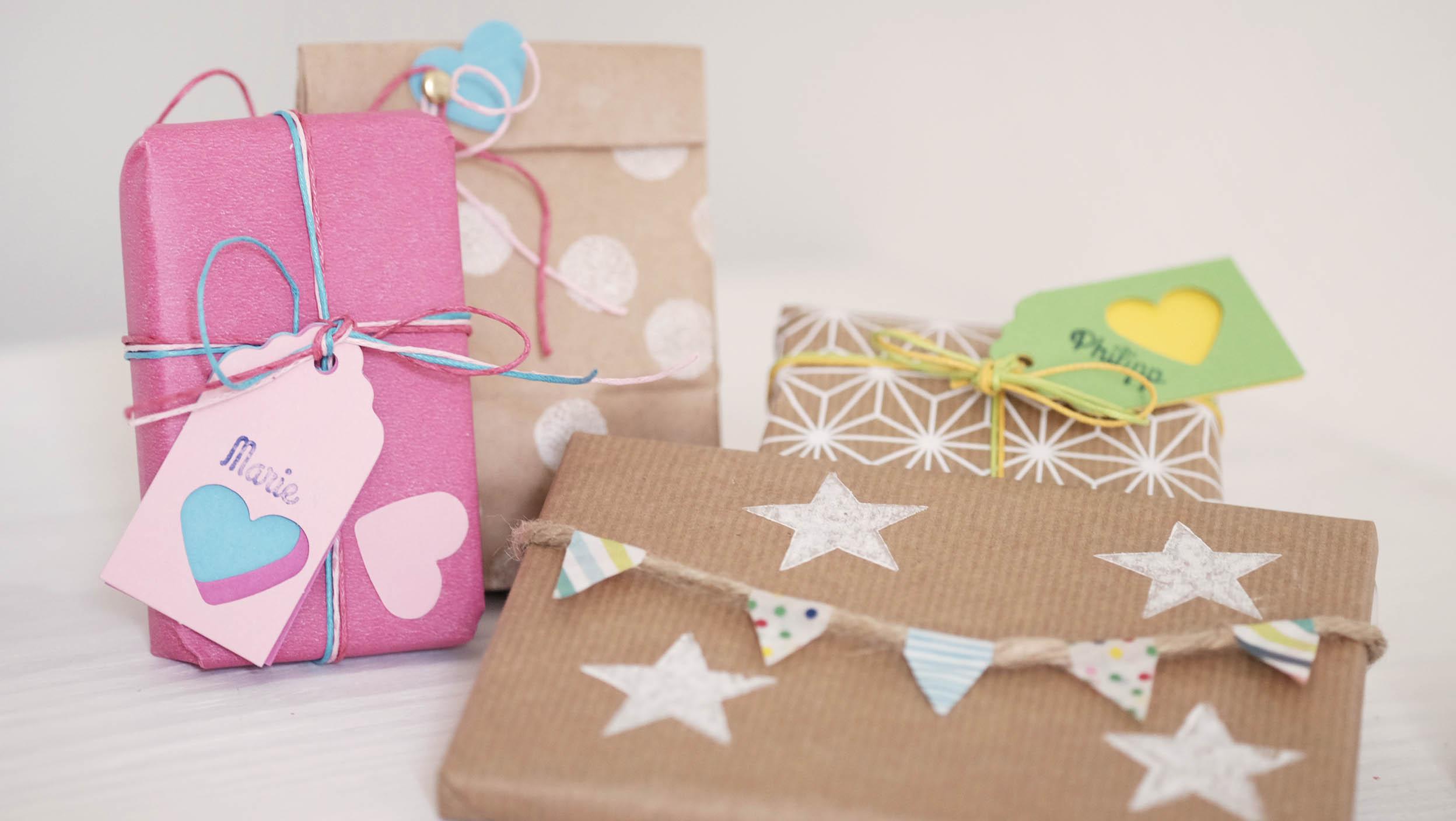 Geschenke zum Kindergeburtstag schön verpacken   Papierdrachen