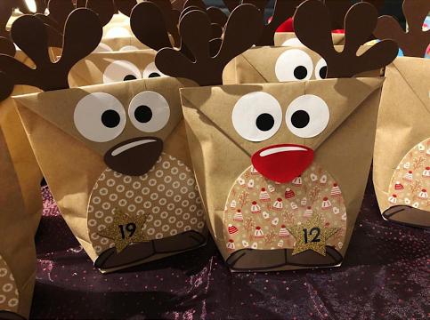 Papierdrachen-Adventskalender-zum-befüllen-Rudolf